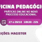 FSLF vai realizar Oficinas Pedagógicas no dias 27 e 28 de outubro